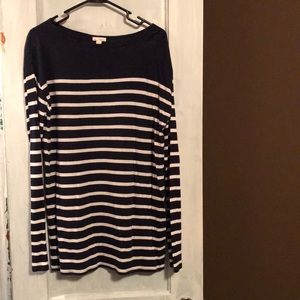 Gap Blue and White Tunic Top